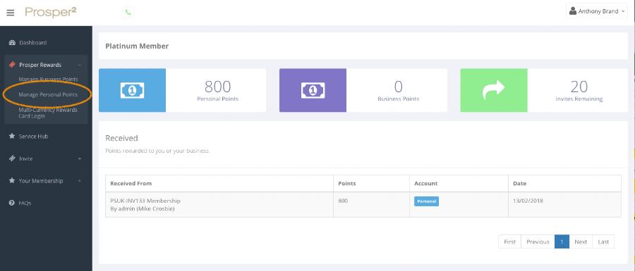 Prosper² Rewards - Manage Personal Points - Screen Shot.png