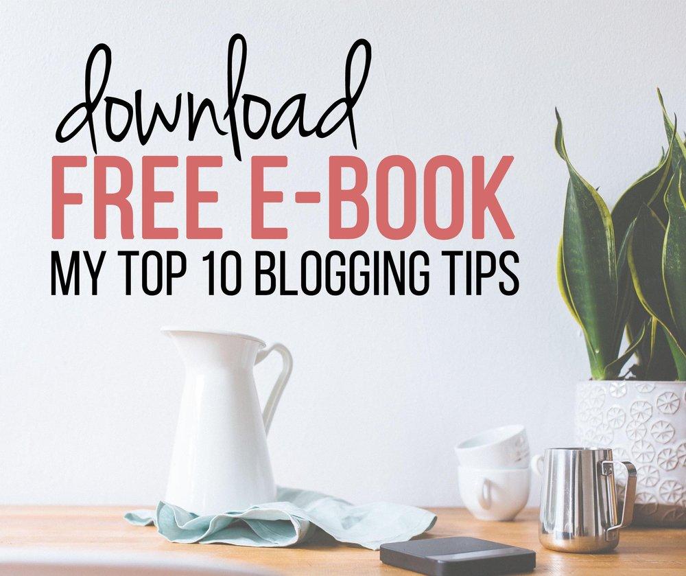 "Download free e-book ""10 steps to infinite blogging success"""