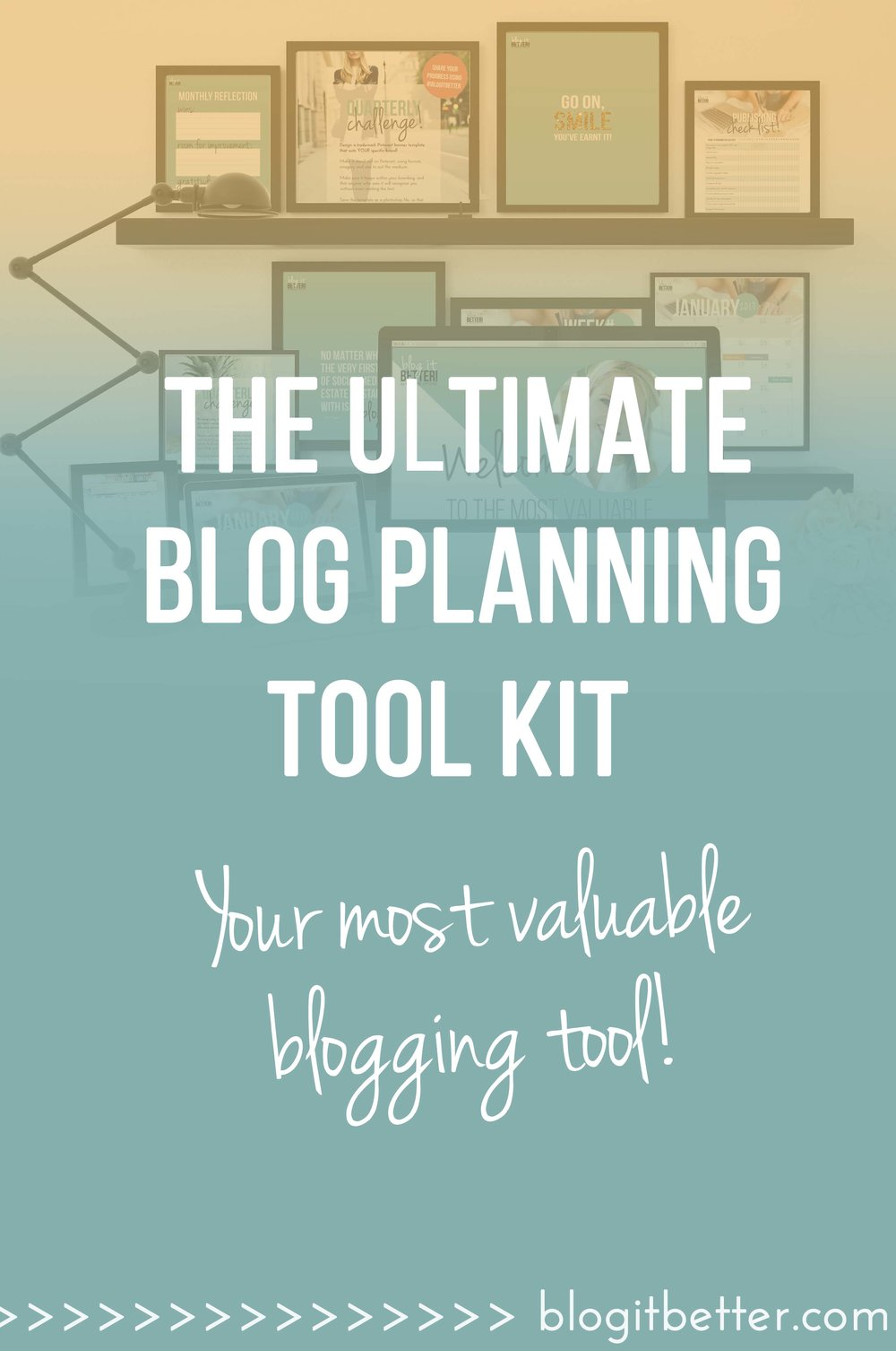 Get your hands on the Ultimate 2017 Blog it Better Blog Planner Kit & totally transform your blog in the next 12 months!