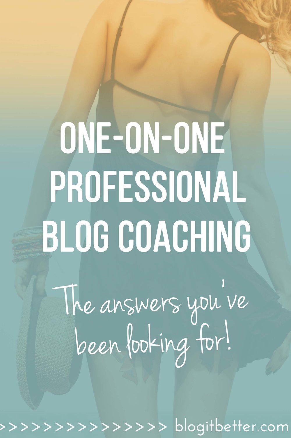 Ready to take your blogging to the next level? Get professional with one-on-one coaching by a seasoned blogger!