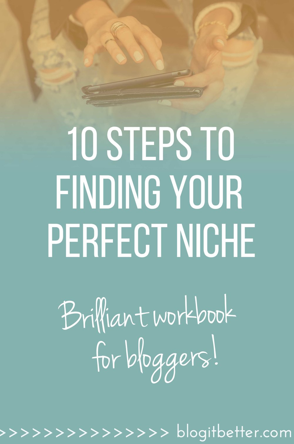 Become a better blogger! This super useful and handy workbook takes you through 10 simple and effective steps to identifying YOUR perfect blogging niche.