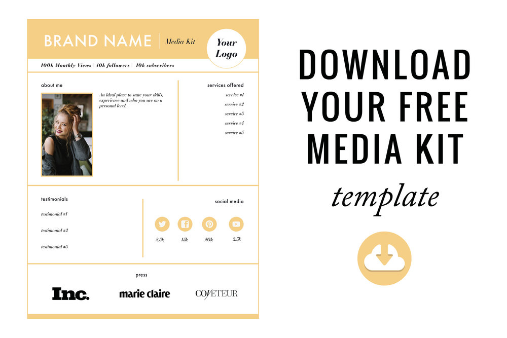 How to create the perfect media kit free template blog it better how to create the perfect media kit free template download blog it better pronofoot35fo Image collections