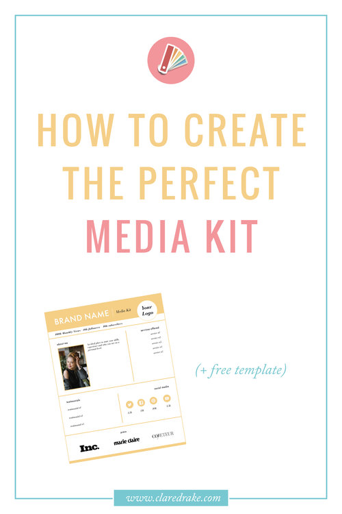 Free Template - How To Create The Perfect Media Kit!