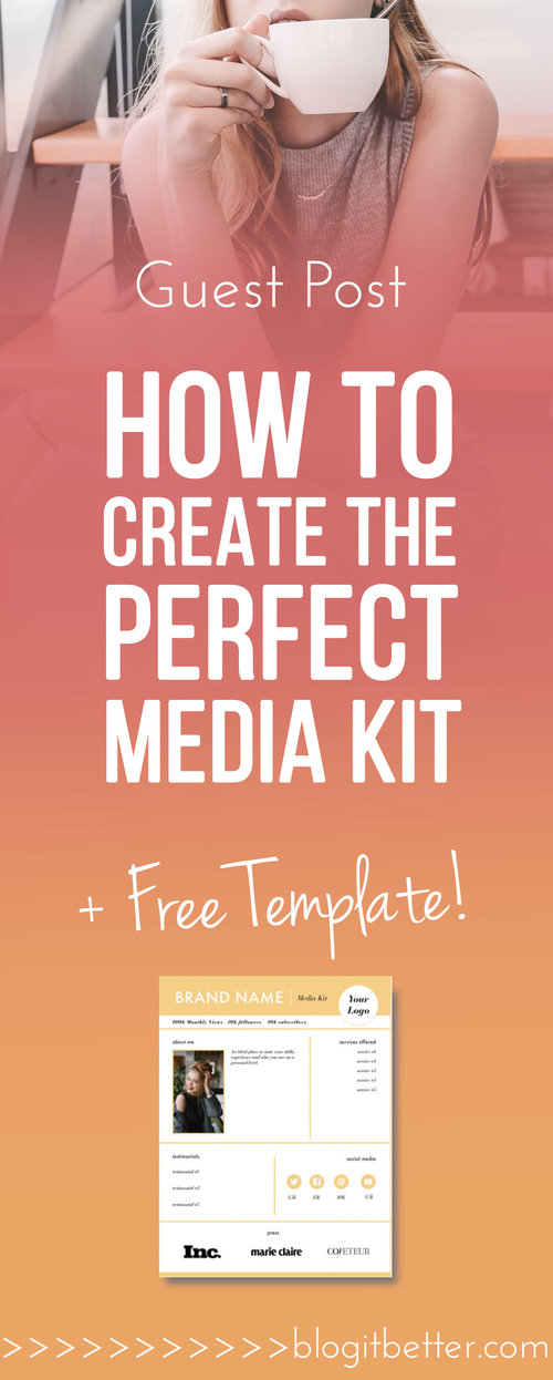 [Free Template] How To Create The Perfect Media Kit!