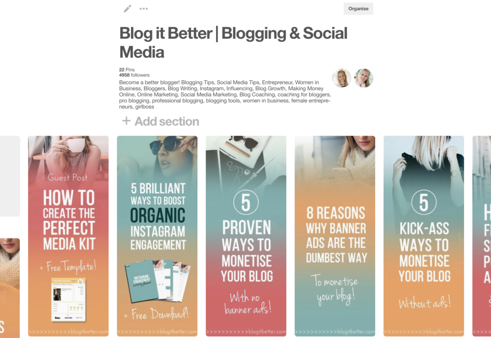 The Blog it Better Pinterest board is full of graphics (yes, you can click to see the board)
