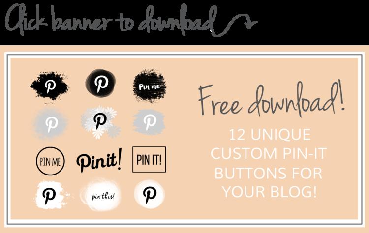 >> Botões pin-it GRÁTIS do Pinterest << Como adicionar facilmente um botão alfinete personalizado do Pinterest ao seu blog no Squarespace ou no WordPress!