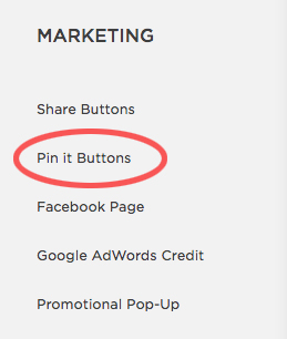 How to add a custom Pinterest pin-it button in Squarespace and Wordpress