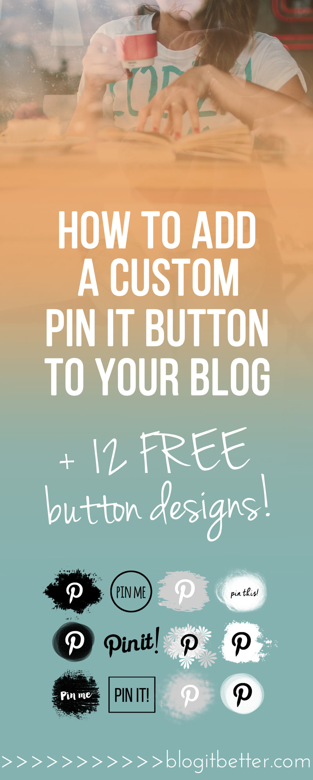 >> FREE Pin-It Buttons!<< Super handy step-by-step tutorial on how install a custom Pinterest pin-it button on your blog or website - Squarespace and Wordpress!  #pinterest #pinteresttips #pinterestforbusiness #pinterestforbloggers #socialmediatips #howtousepinterest #pinterestseo #pinteresttraffic #pinitbutton #wordpresstips #squarespacetips #blogitbetter #bloggingtips