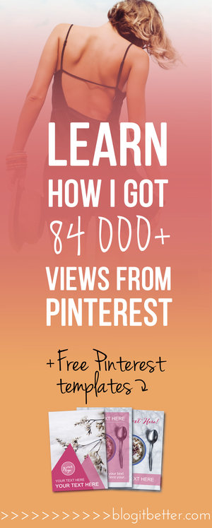 >>FREE Custom Pinterest Templates<< 5 Reasons Every Blogger Absolutely MUST be on Pinterest! Blog it Better!