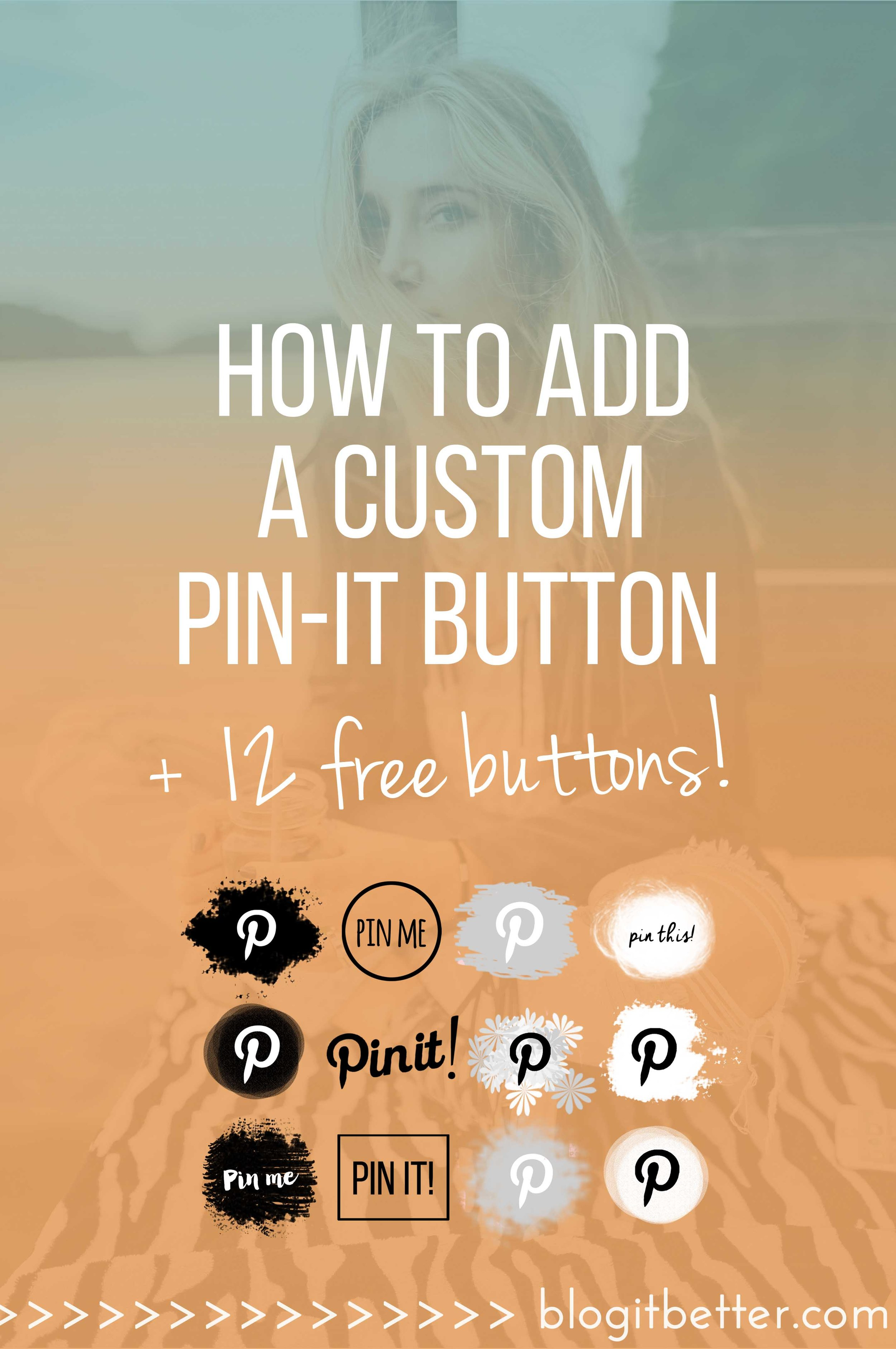 How to add a custom Pinterest pin-it button to Squarespace or