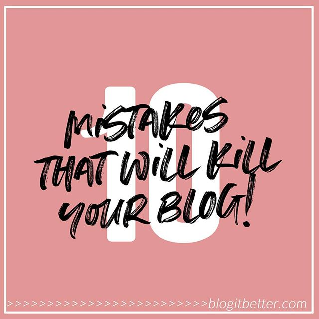 "⚠️What are you doing WRONG right now?? . There are 10 big mistakes that a LOT of bloggers step right into on a daily basis.😲 . Mistakes that not only have the potential to ruin the progress of your blog, but also knock the wind out of you, wear you out and damage your motivation.🙈🙈 . So many bloggers are committing these blogging faux pas, and most of them don't even realise it!😩 . So often, when I start working with a new client, one or several of these blogging mistakes are the first points we have to address! . ✔The good news is, there are simple fixes to each and every one of these common mistakes, and I've listed all of them in the super helpful post called: . ""10 Mistakes Commonly Made By Bloggers & Why They Will Kill Both You And Your Blog!"" . 👉👉bit.ly/10-blogging-mistakes👈👈 . In this post I'll give you answers to questions like: . ✔How often should you blog? ✔How many social media platforms should you be on? ✔How many topics should your blog cover? ✔What should you spend my money on? ✔How important are numbers? ✔How do you price yourself as a blogger? . Visit 👉bit.ly/10-blogging-mistakes👈 and find out how YOU can avoid making the blunders that will keep your blog from becoming popular! . Oh, and if you appreciate my content (I've spent hours creating the post) then it would make me super happy if you'd share it on your favourite social media platform 😊💓 . Kristine xo"