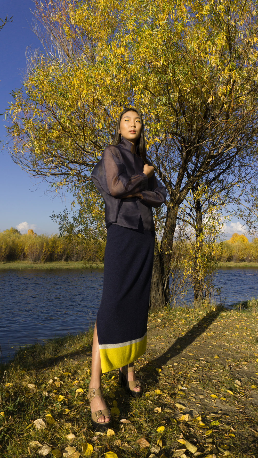 Mandkhai ss18 knit dress shot in Mongolia
