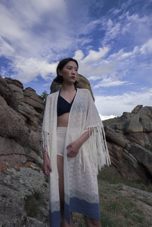 Mandkhai spring summer cashmere shot in Mongolia