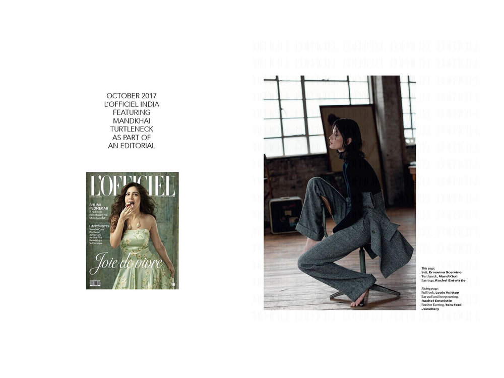 L'Officiel India - 23.10.17. Mandkhai Press