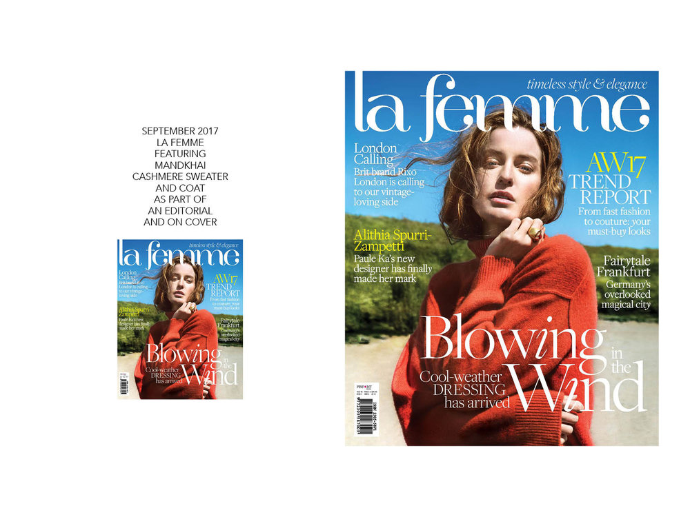 La Femme Cover featuring Mandkhai Jumper - 06.09.17.jpg Mandkhai Press
