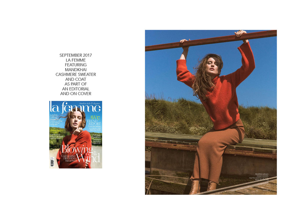 La Femme Editorial featuring Mandkhai Jumper  - 06.09.17 Mandkhai Press