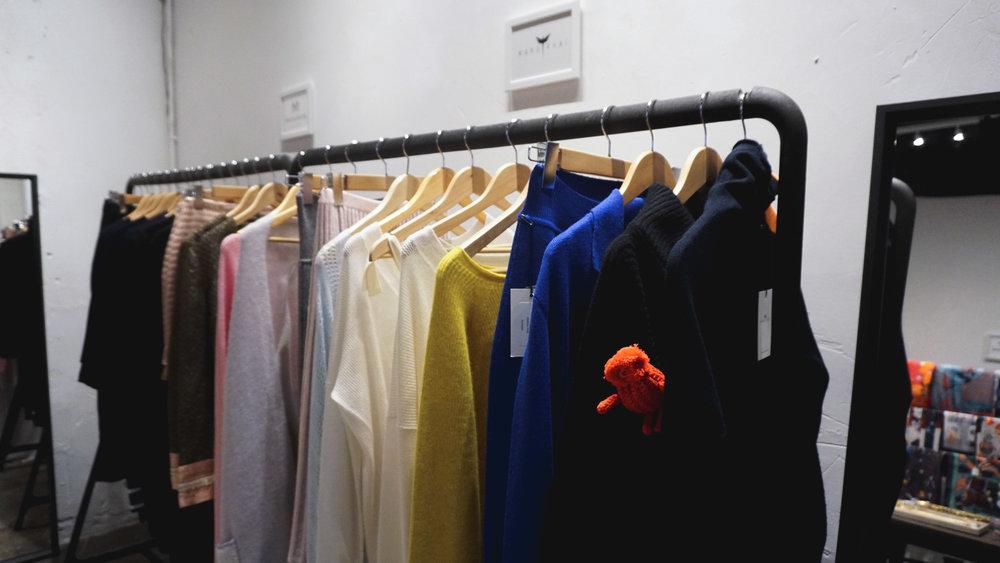 Mandkhai cashmere collection closeup
