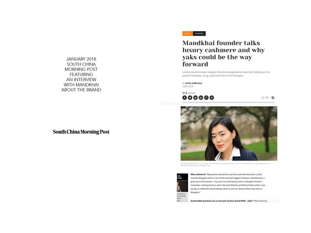 South China Morning Post_Mandkhai Interview