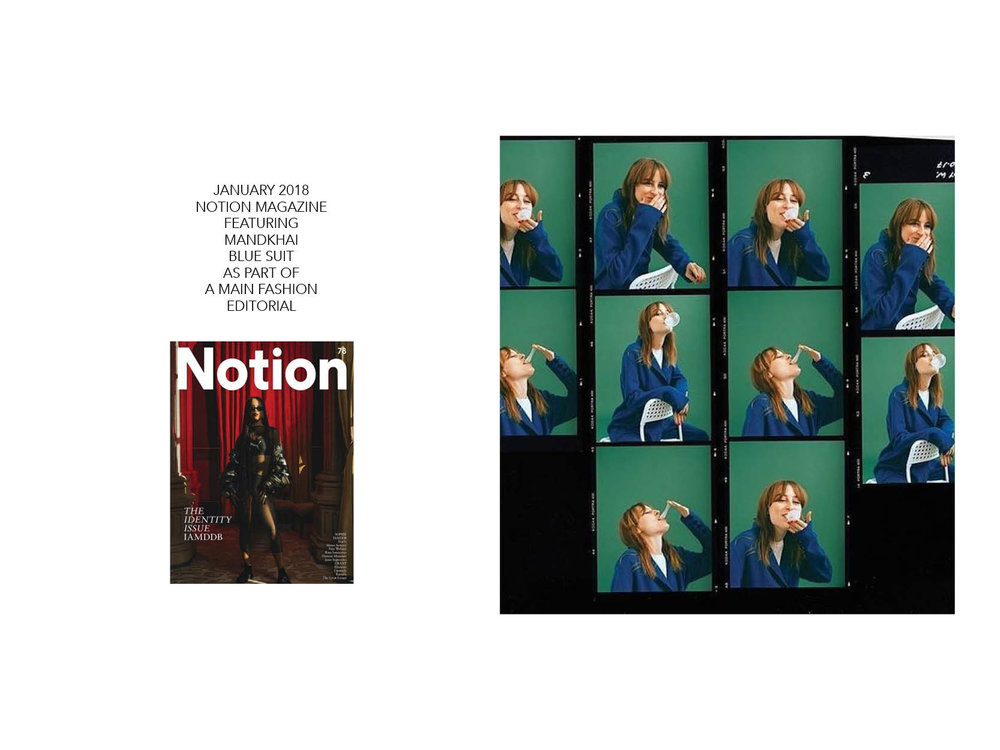 Notion Magazine Mandkhai Blue Suit