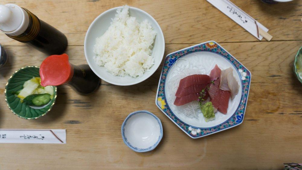 Sashimi in Tokyo