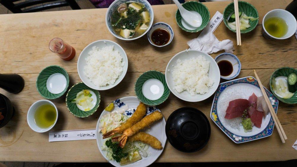 Japanese food in Tokyo