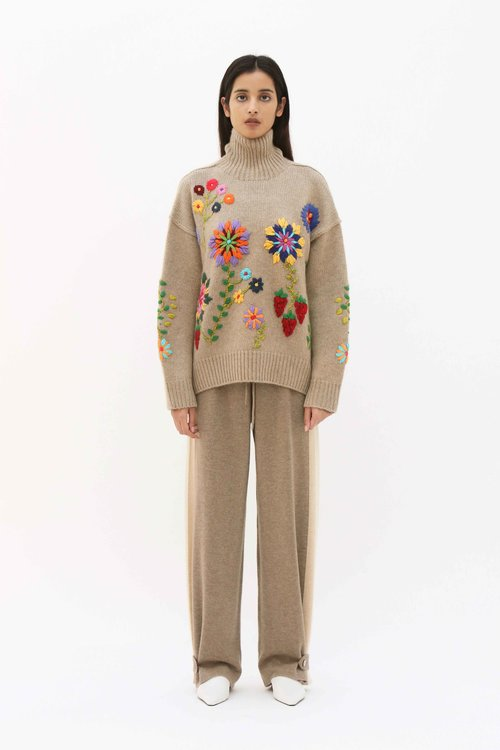 a8d690b47f4 Embroidered Jumper ...