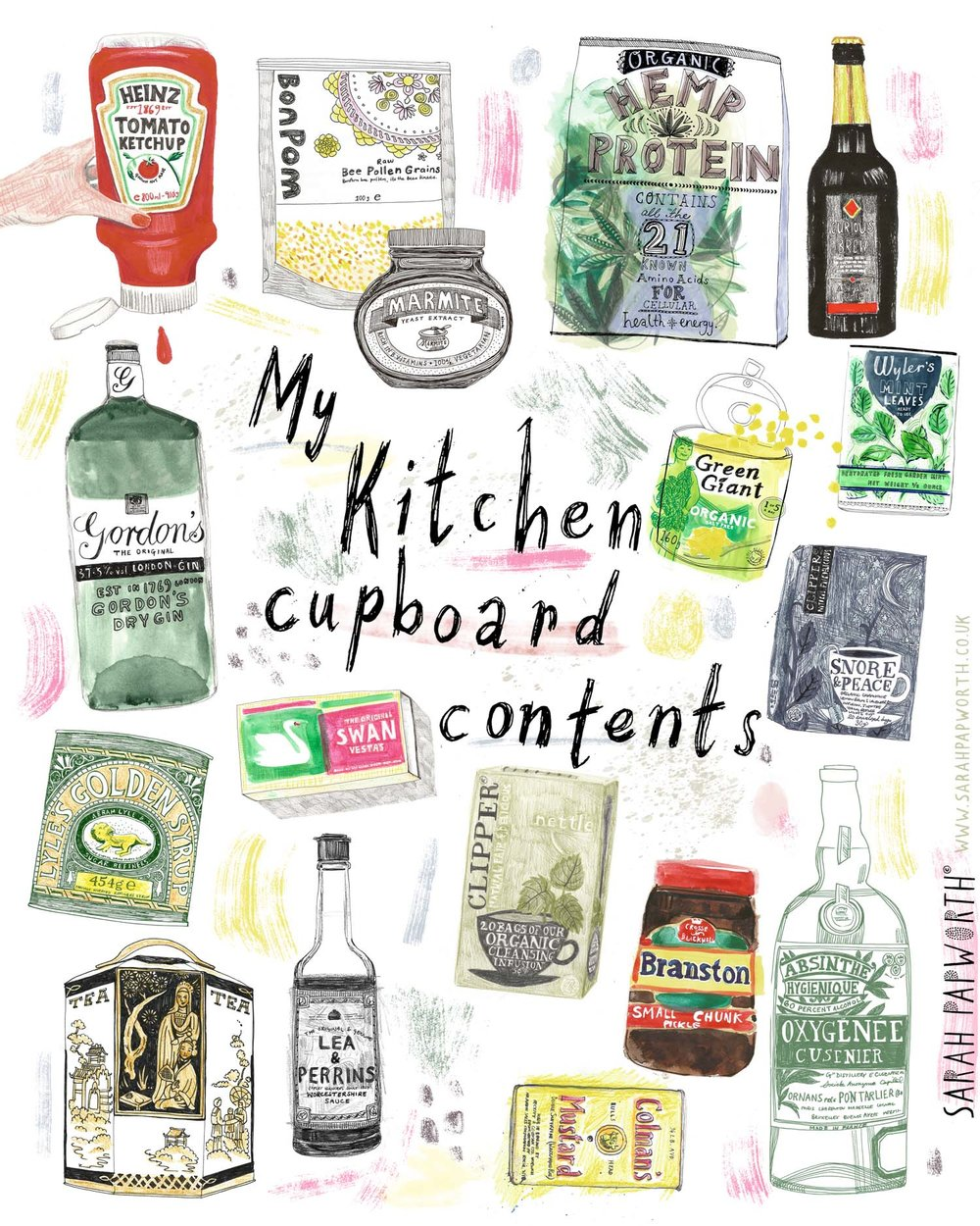 editorial magazine food illustration condiments sarah papworth.jpg