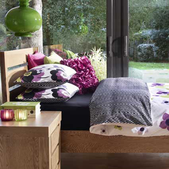 Rotary printed bedding