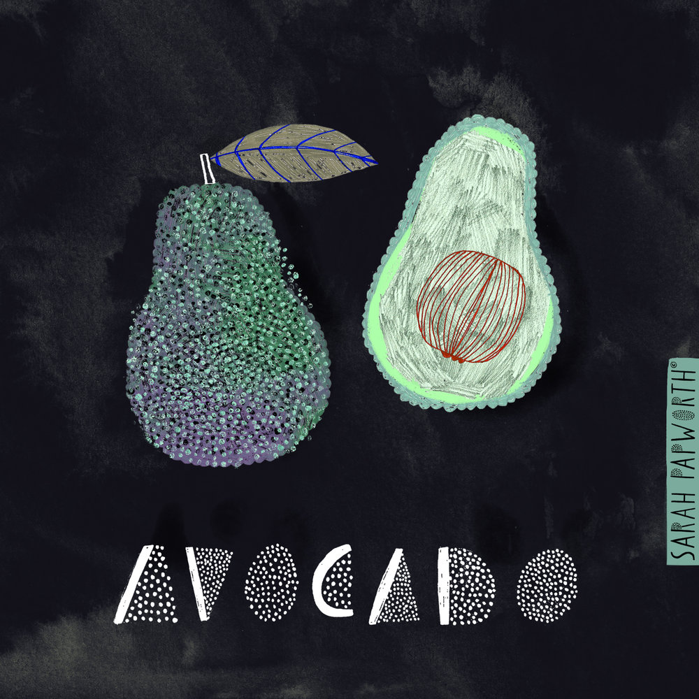 avocado vegetable illustration food editorial art sarah papworth design.jpg