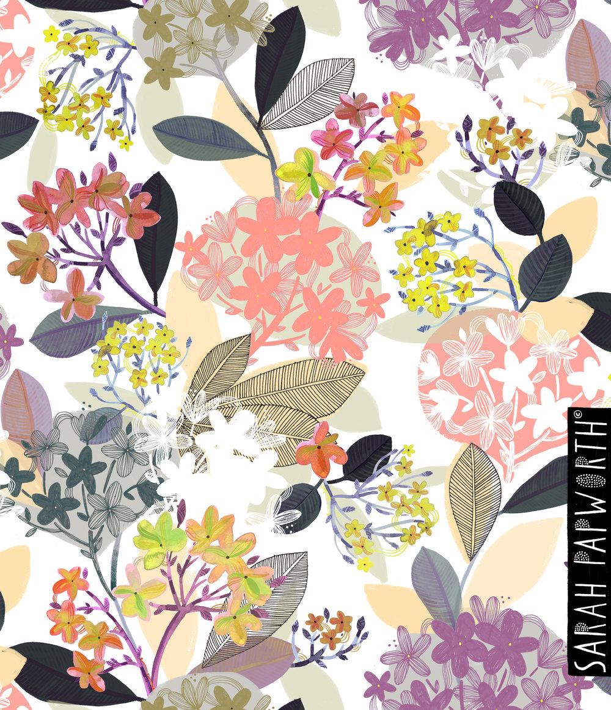 blossom repeat homeware furnishing wallpaper pattern floral print by sarah papworth design.jpg