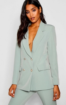Boohoo Double Breasted Boxy Blazer