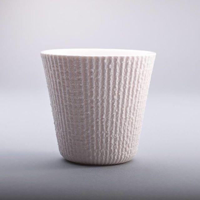 Capuccino cup -FIBER 80- #porcelain #ceramic #clay #cup #white #texture #slipcasted #handmade #p3l1 #p3l1design
