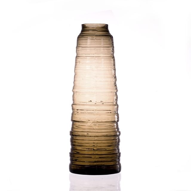-PILASTER- vase in smoke colour #handblownglass #smoke #bohemian #glass #vase #p3l1 #p3l1design