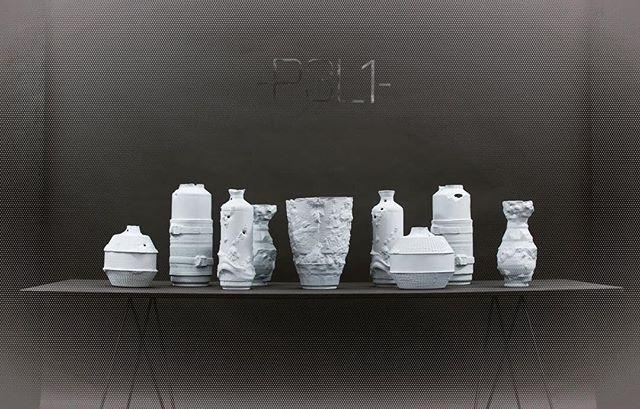 -RUINS- collection #designblok2018 #handmade #ruins #stoneware #ceramic #clay #p3l1 #design #blue