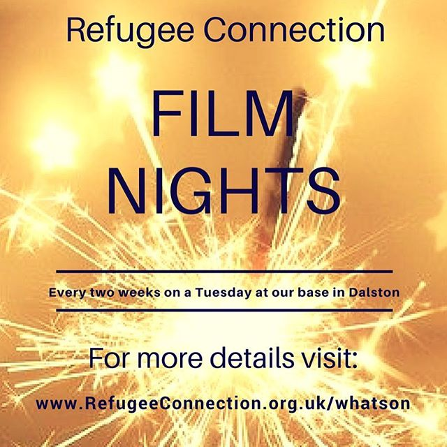 We are screening Coming to America this eve at 6.30pm in Dalston. Huge thanks to Zoe from farmshop.org and Pickles of London for donating us pizza 🍕 ✨ get in touch 020 3911 4063 if you want to come along  #filmnight #dalston #pizza #refugeeswelcome #comingtoamerica #eddymurphy
