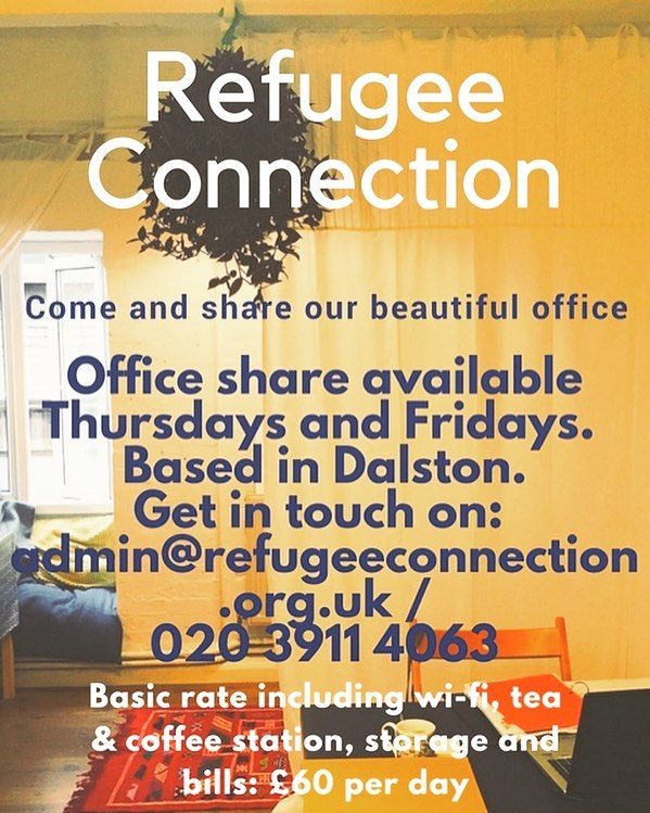 Know anyone looking for office space? Get in touch if you want to share our gorgeous Dalston office - rugs and hanging plants galore. 2 mins from Dalston Junction overground, 24 hr key-card access, roof terrace & more. V reasonable rates. Call us now before someone else does! 🌿