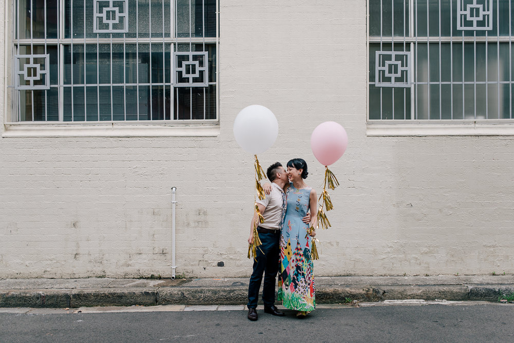 Cafe Engagement Shoot on the streets of Sydney