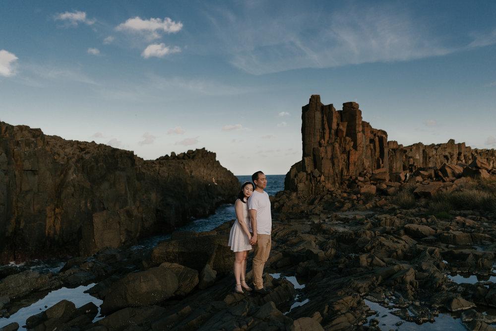 Sarah & Alex - Engagement photo shoot at Bombo Quarry