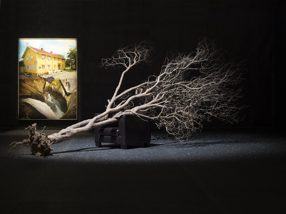 La Tempête, 2011 tree, clay, armchair 500 x 350 x 270 cm - 196 7/8 x 137 3/4 x 106 1/4 inches