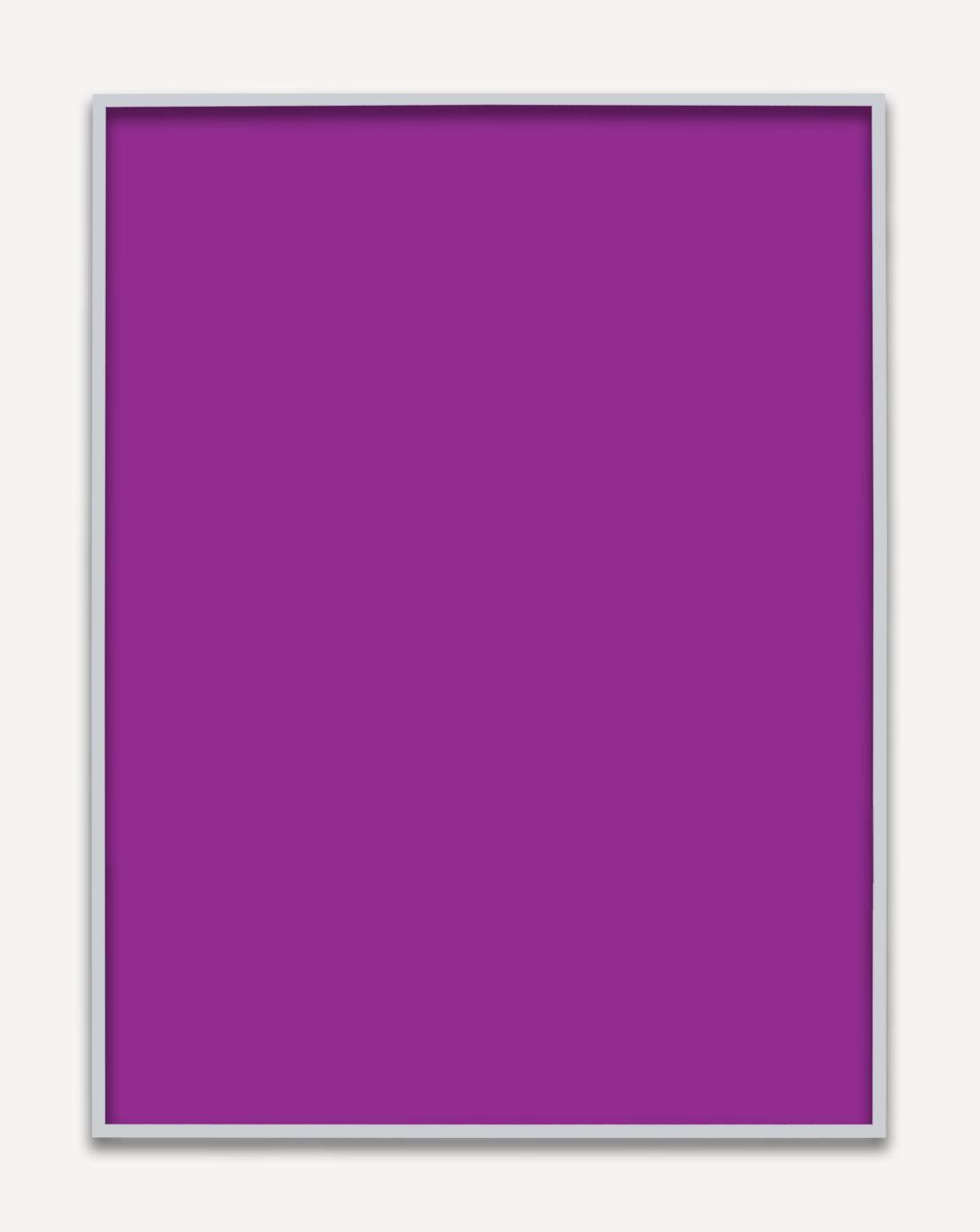 Untitled (Purple Monochrome), 2015 unique chromogenic prints 153,5 x 123,5 cm - 60 3/8 x 48 5/8 inches (framed)