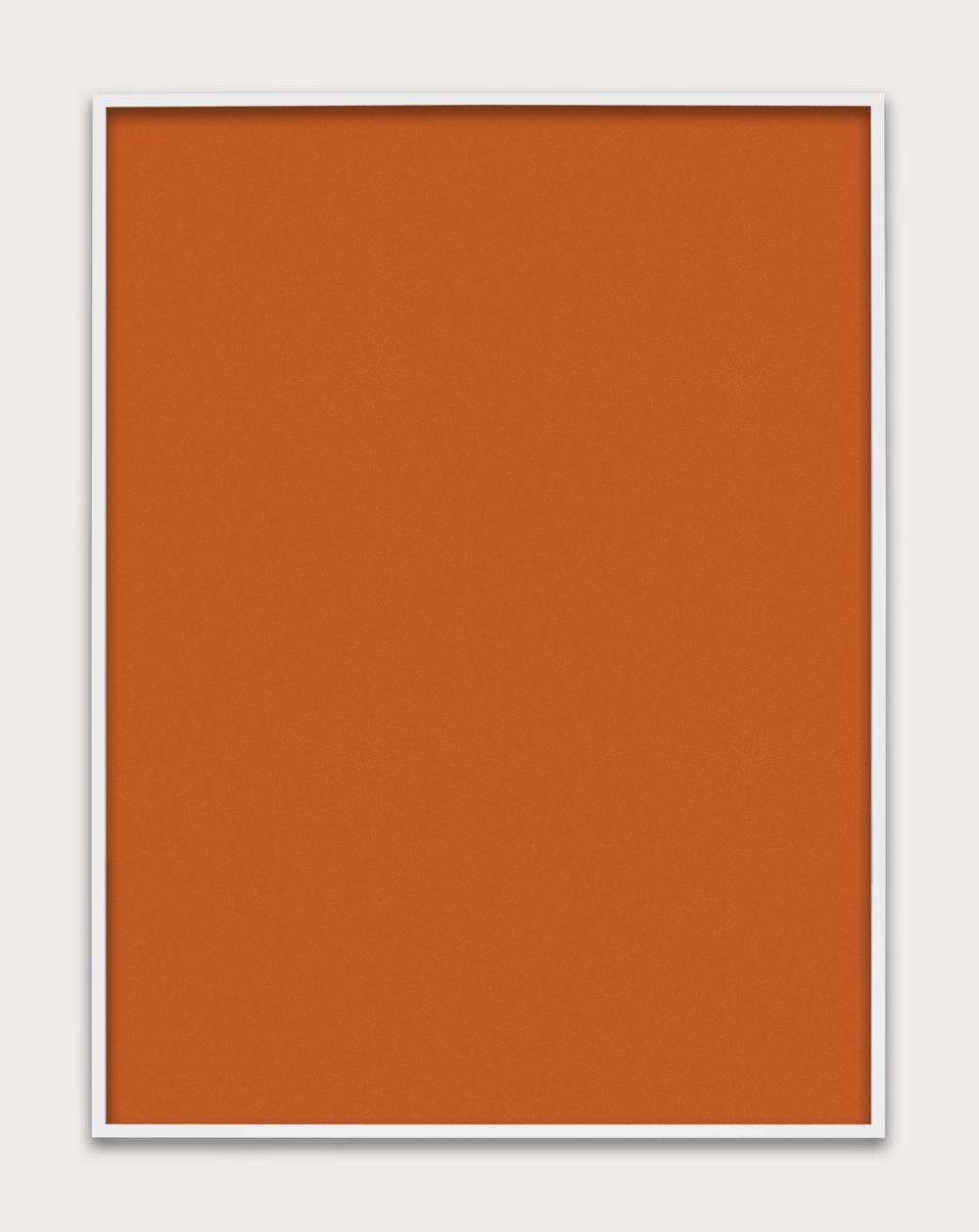Untitled (Orange Monochrome), 2014 unique chromogenic print 152,4 x 122 cm - 60 x 48 inches