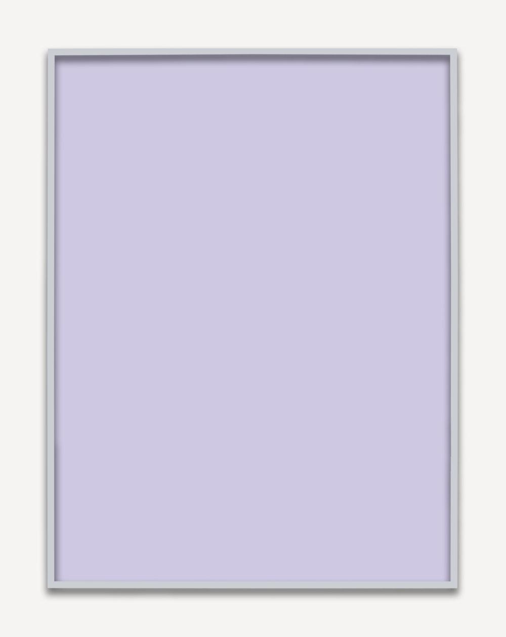 Untitled (Purple Monochrome 04), 2015 unique chromogenic print 153,5 x 123,5 cm - 60 3/8 x 48 5/8 inches (framed)
