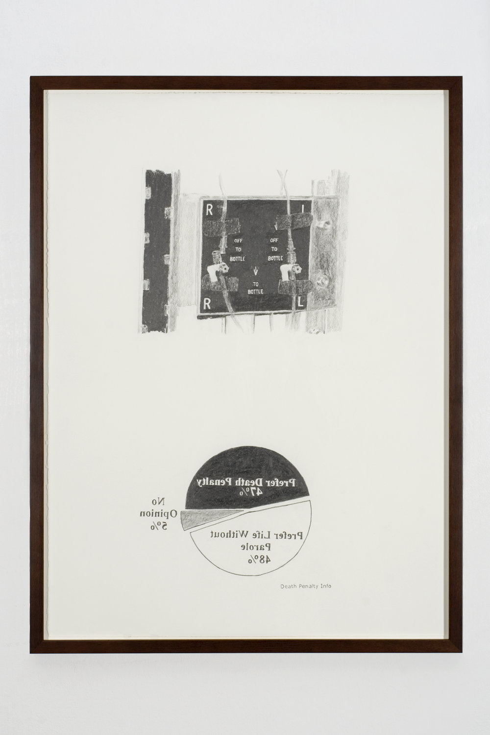 Support for Life, 2008 graphite on paper 81 x 61 cm - 32 x 24 inches (framed)