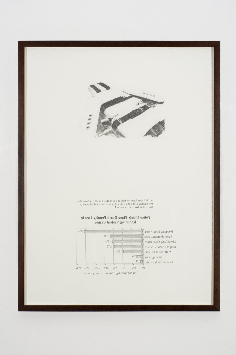 Death Penalty Last, 2008 graphite on paper 81 x 61 cm - 32 x 24 inches (framed)