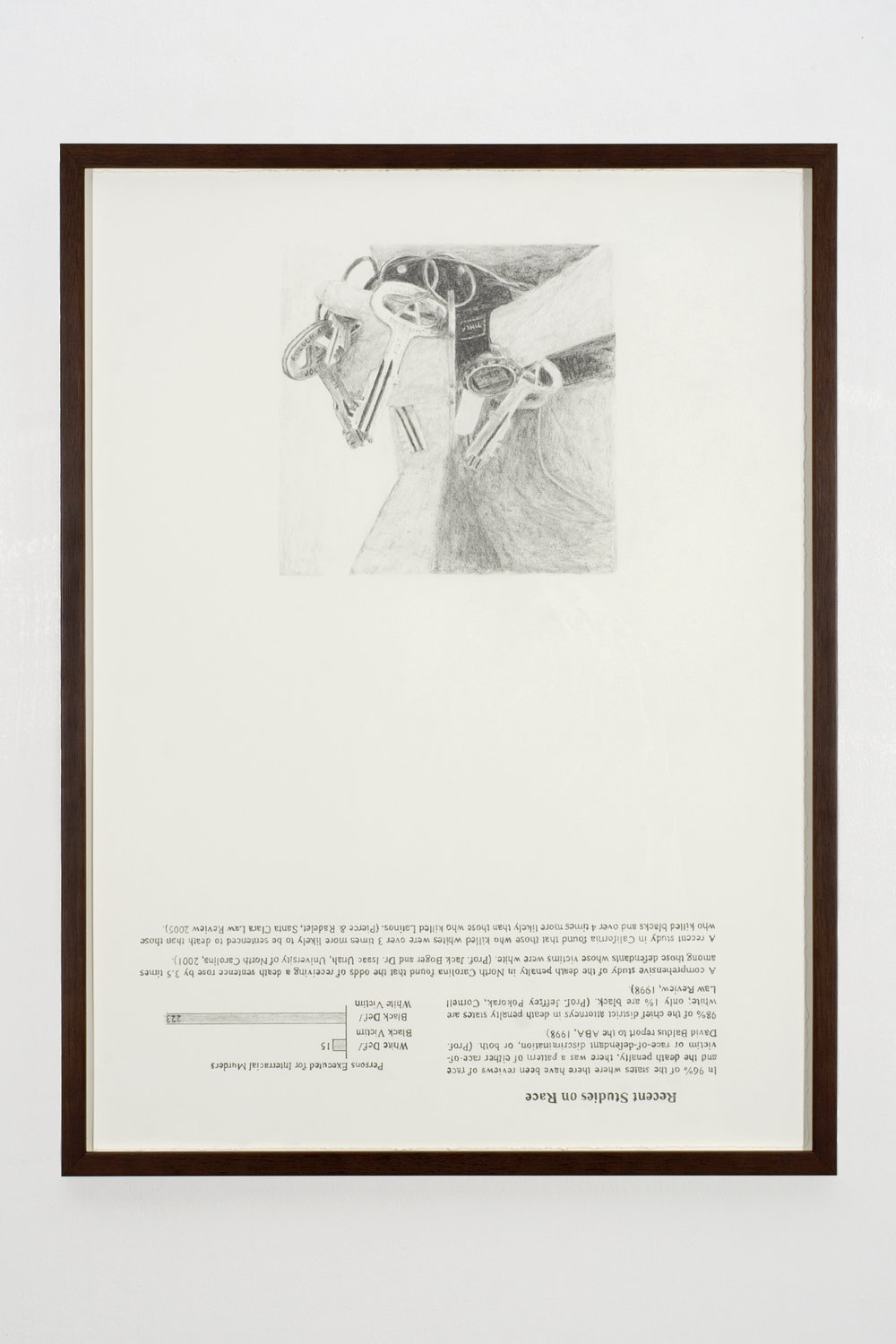 Recent Studies, 2008 graphite on paper 81 x 61 cm - 32 x 24 inches (framed)