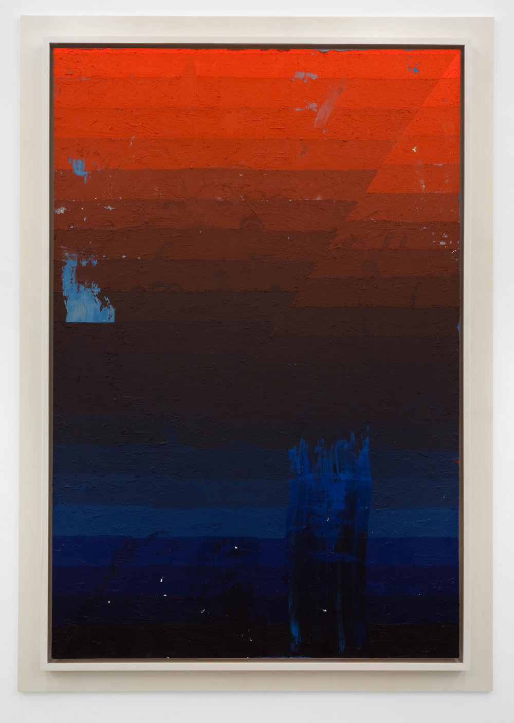 Execution Changes #45 (DS, Q1, LLJ, DC, Q2, URJ, LC), 2012 acrylic on panel 256,5 x 180,3 cm - 101 x 71 inches