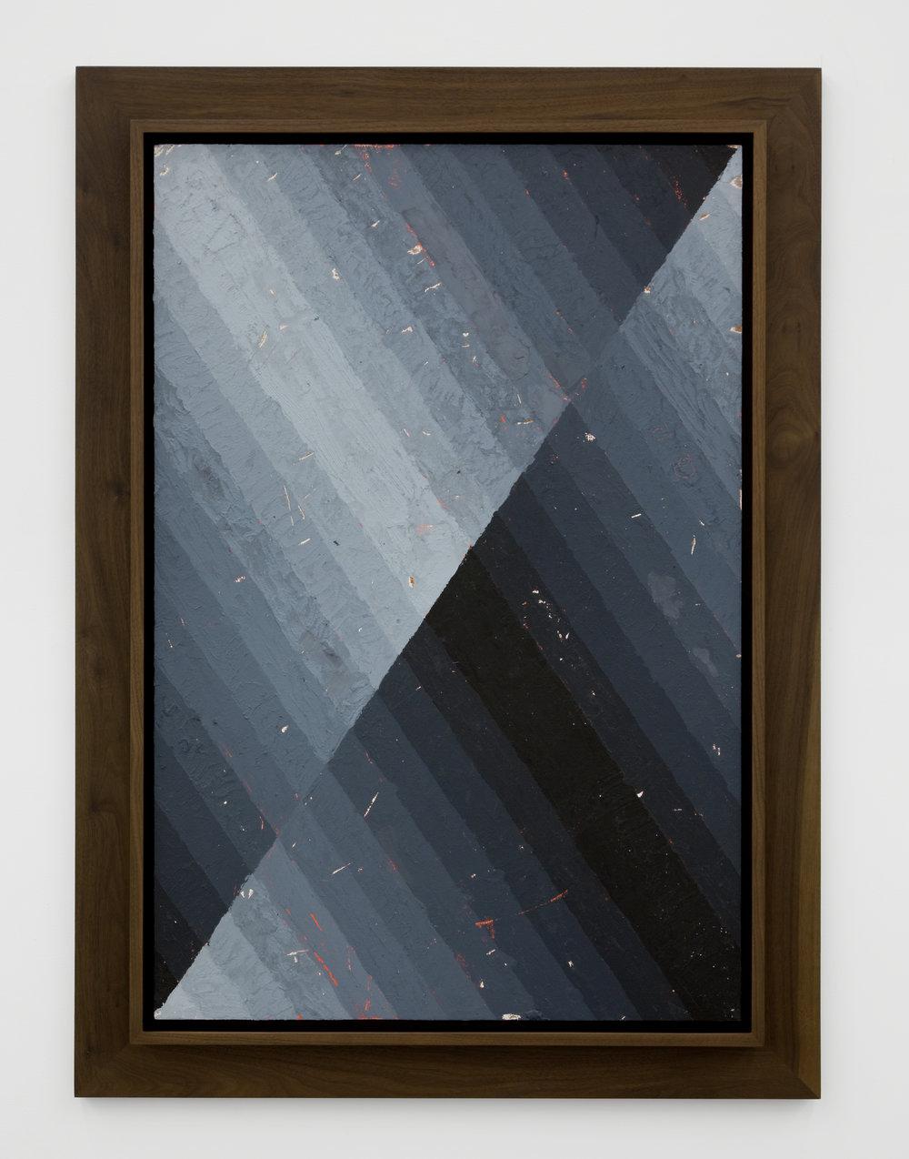 Execution Changes #48 (XS, Q1, URJ, DC, Q2, URJ, LC, Q3, LLJ, LC, Q4, LLJ, DC), 2012 acrylic on panel 109,2 x 78,7 cm - 43 x 31 inches