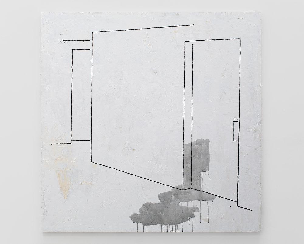 Hallway, 2014 acrylic and flashe on canvas 183 x 183 cm - 72 x 72 inches
