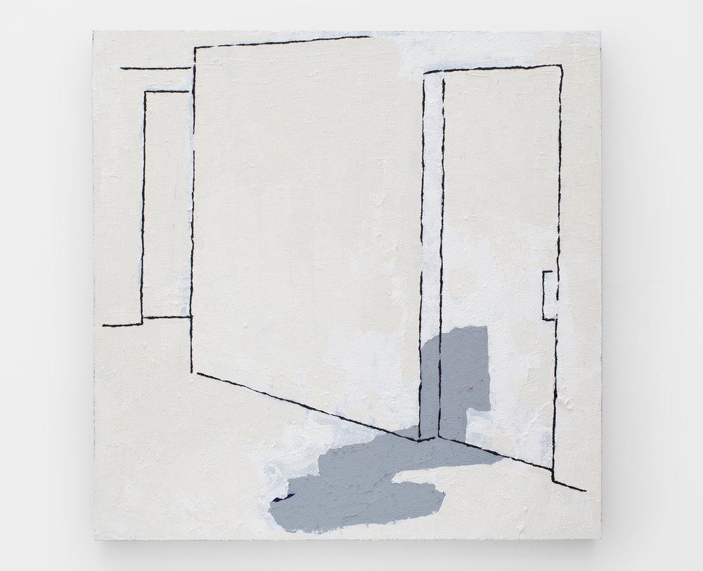 Hallway Study, 2014 acrylic on linen 91,5 x 91,5 cm - 36 x 36 inches