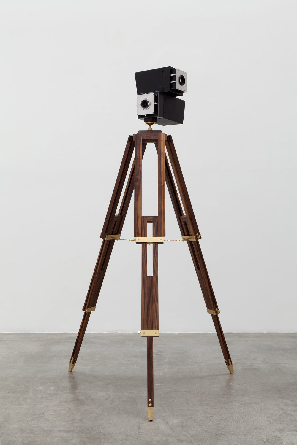 Viewing Rooms, 2014 walnut, brass, hardwood variable dimensions